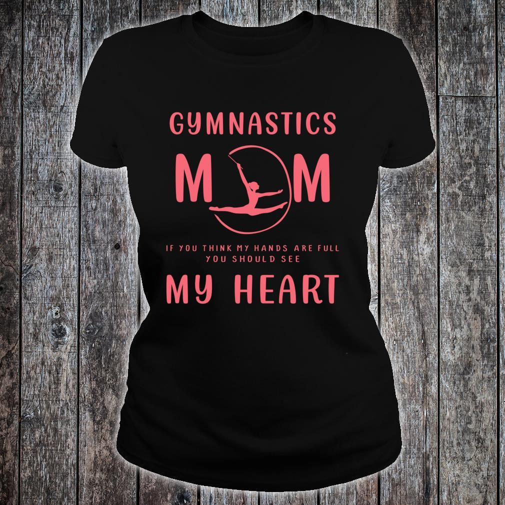 Mother's Day Cool Gymnast Mom Great Mom Full Hearts Shirt ladies tee